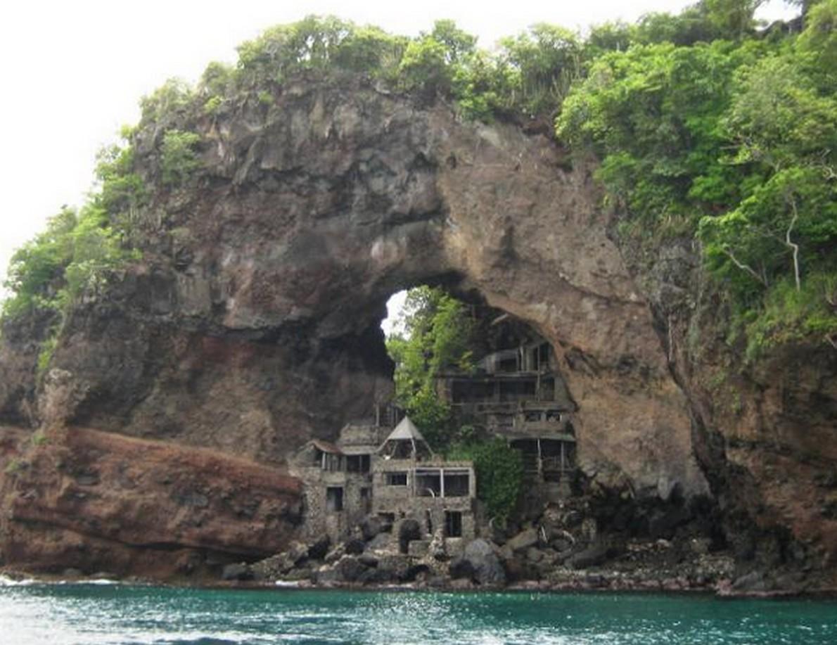 Lincredibile casa caraibica abbandonata un tempo rifugio