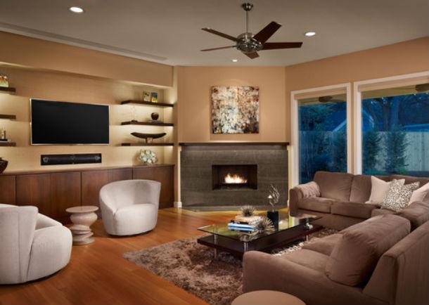 Decorao ideias para conciliar a televiso com a lareira na sala fotos  idealistanews
