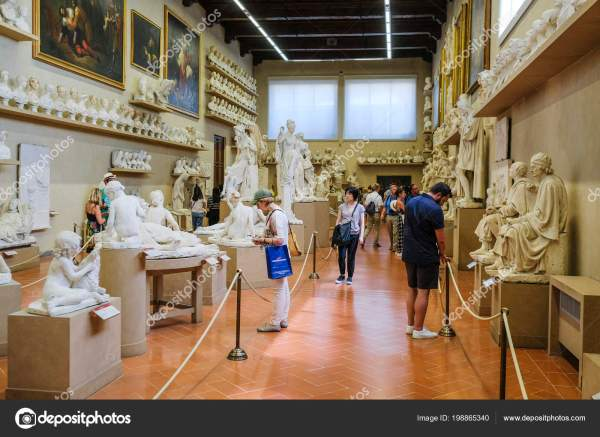 Florence Italy June 2018 Visitors Museum Academy