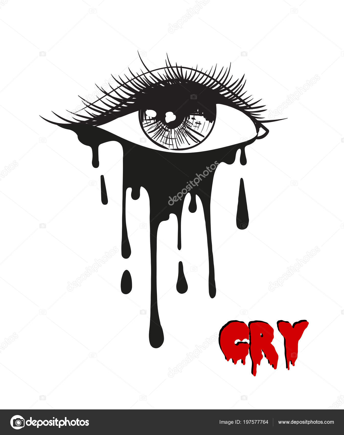 Heartbroken Cry Eye Draw : heartbroken, Crying, Drawing, Stock, Icon,, Royalty, Tears, Images, Download, Depositphotos®