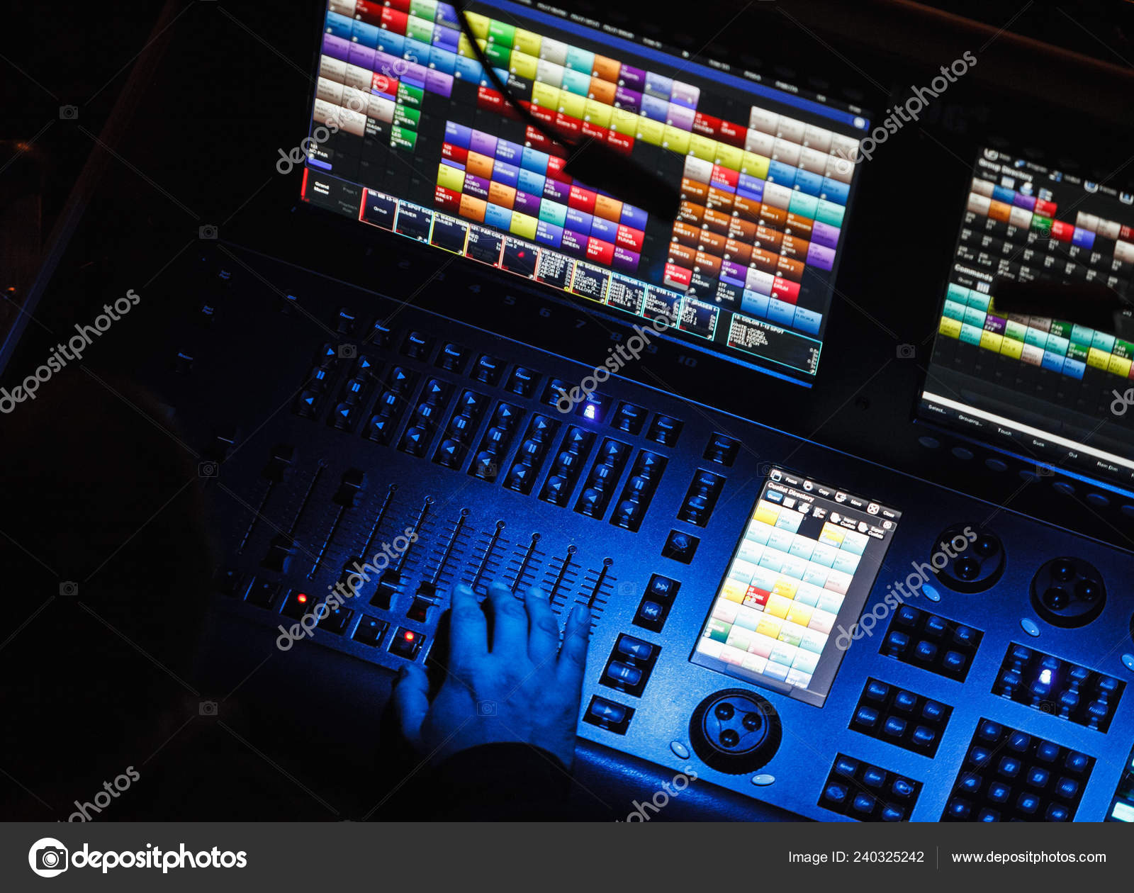moscow october 2016 professional stage lighting control panel night club stock editorial photo c hurricanehank 240325242