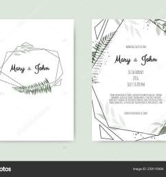 set of card with flower rose leaves and geometrical frame wedding ornament concept  [ 1600 x 1109 Pixel ]