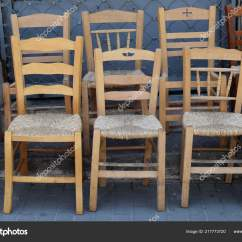 Wicker Chairs For Sale Design Within Reach Simple Wooden Street Market Stock Photo