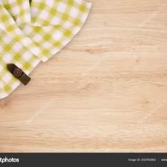Kitchen Tops Wood Quartz Countertop 绿色和白色的厨房织物纹理的木材背景抽象背景空模板顶部视图 图库照片