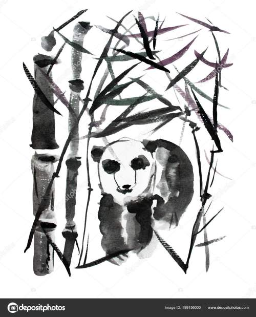small resolution of decorative watercolor panda bear and bamboo plants clipart design elements can be used for cards invitations banners posters print design