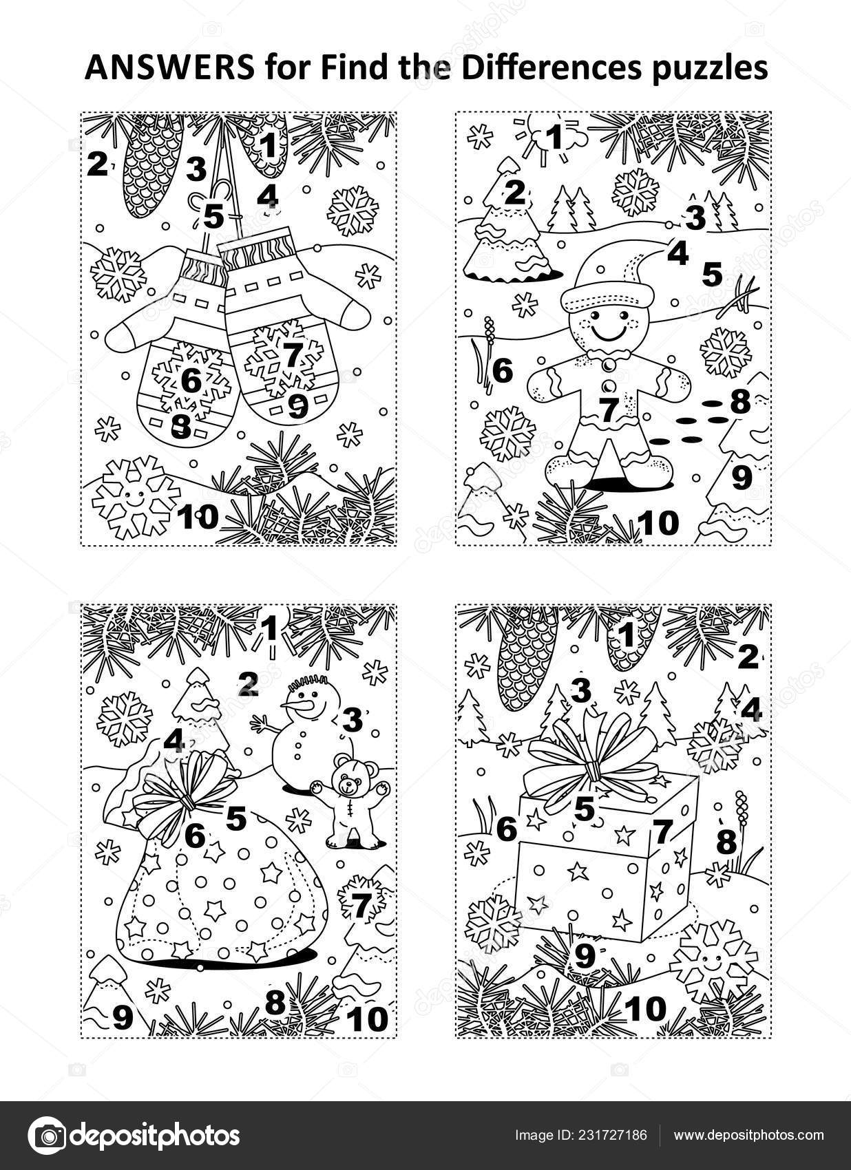 Answers Previous Find Differences Visual Puzzles Winter
