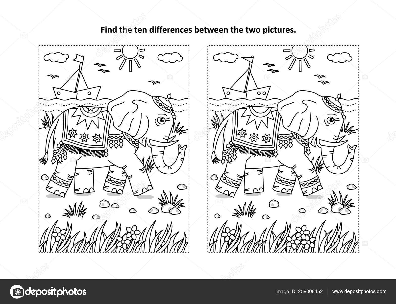 Find Differences Picture Puzzle Coloring Page Beautiful
