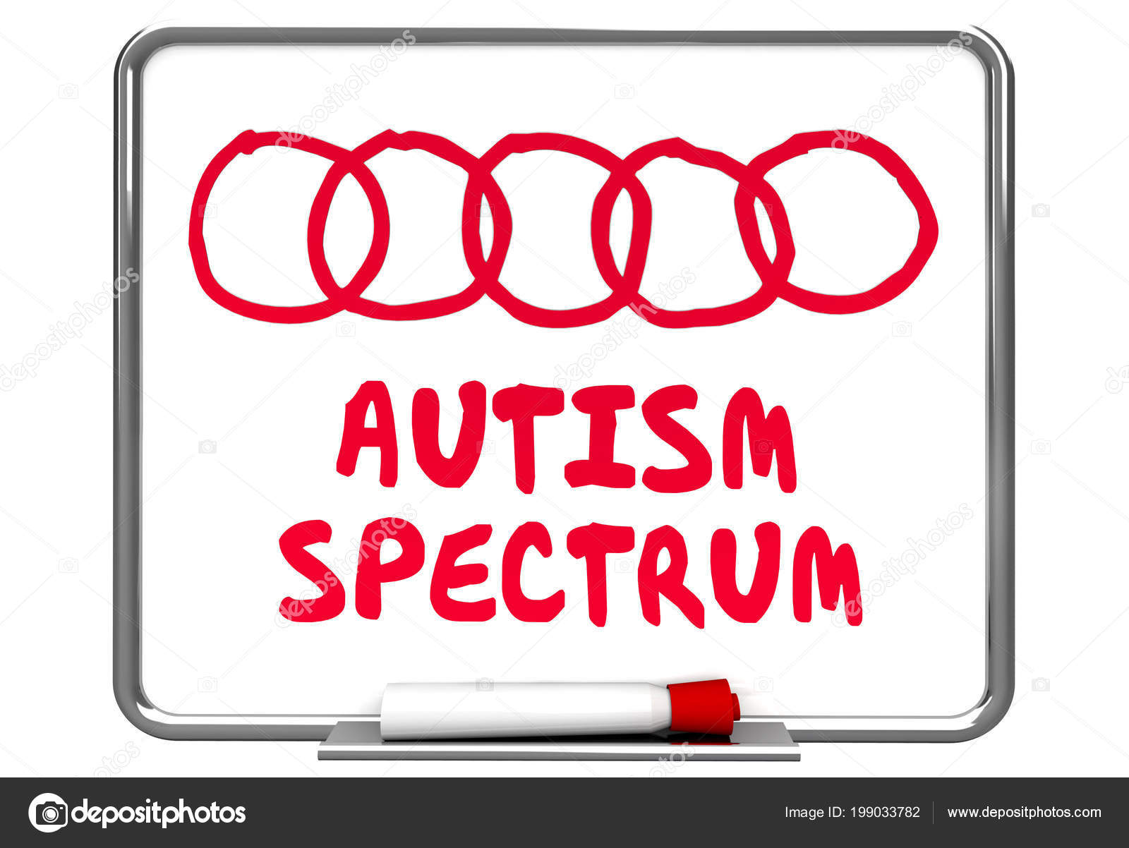hight resolution of autism spectrum diagram dry erase board words 3d render illustration photo by iqoncept