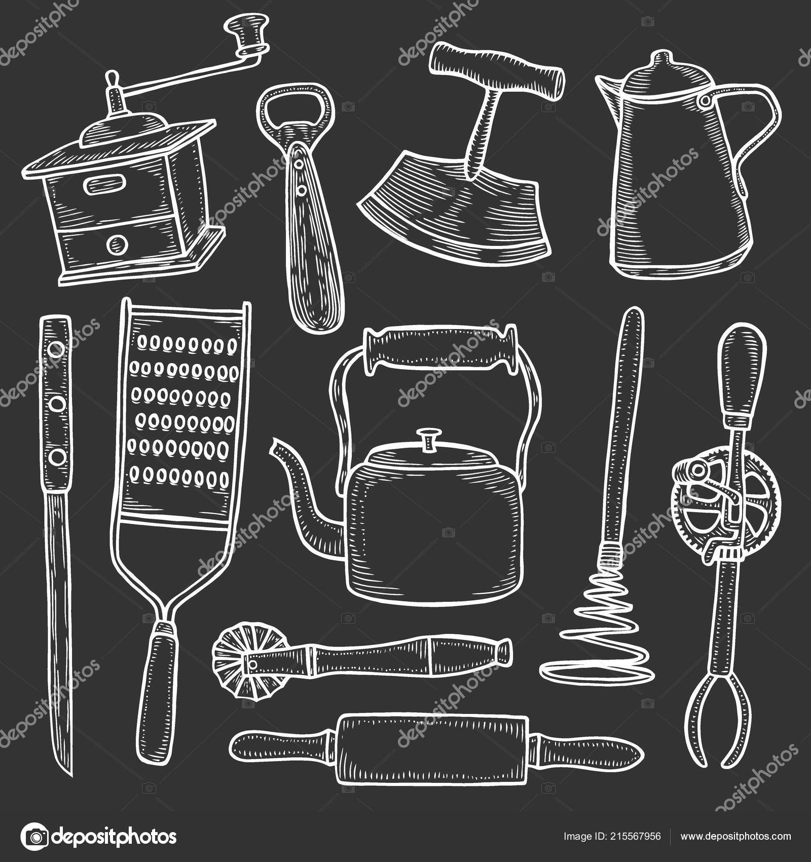 black kitchen appliances sink protectors 套厨房用具雕刻孤立的黑色矢量插图 图库矢量图像 c frescomovie 215567956 图库矢量图片