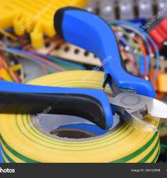 tools cables used electrical home installation stock photo [ 1600 x 1168 Pixel ]
