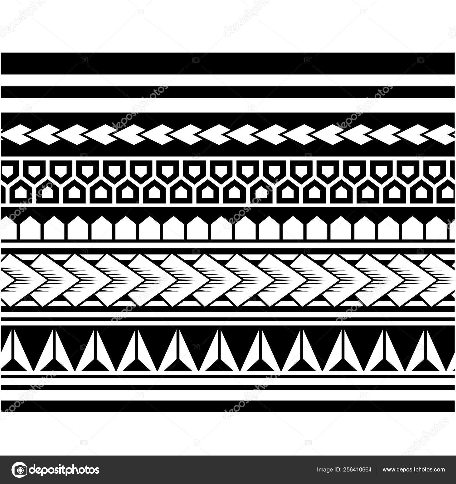 Vector Patrón Manga Tatuaje Polinesio Diseño Pies Antebrazo Samoano