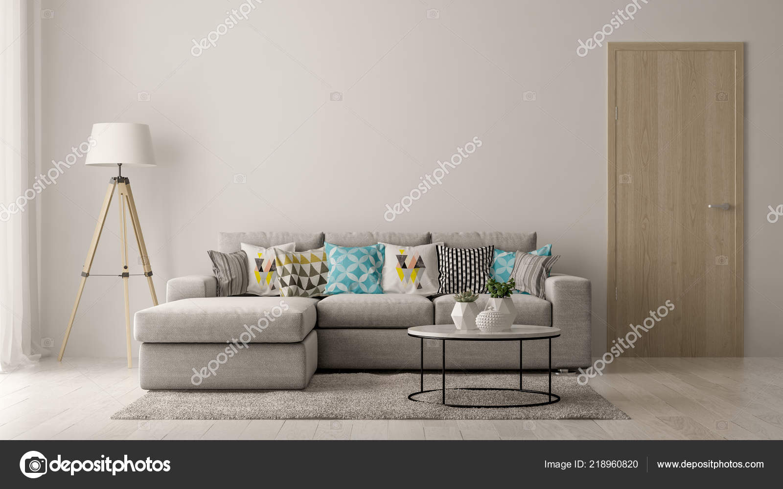 interior of modern living room with sofa and furniture 3 d rendering photo by hemul75