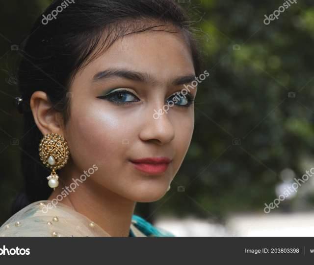Young Little Pakistan Girl Stock Photo