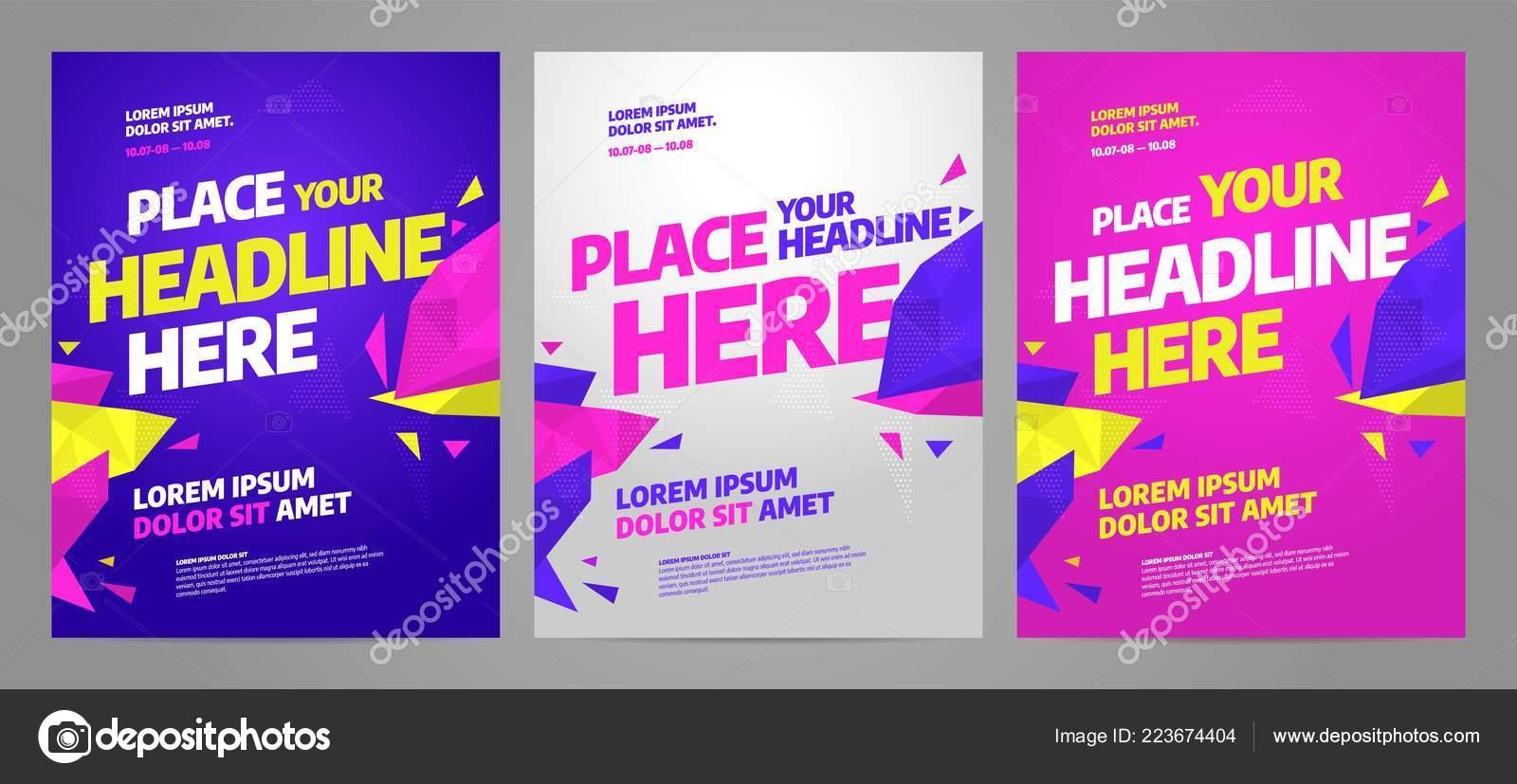 https depositphotos com 223674404 stock illustration layout poster template design for html