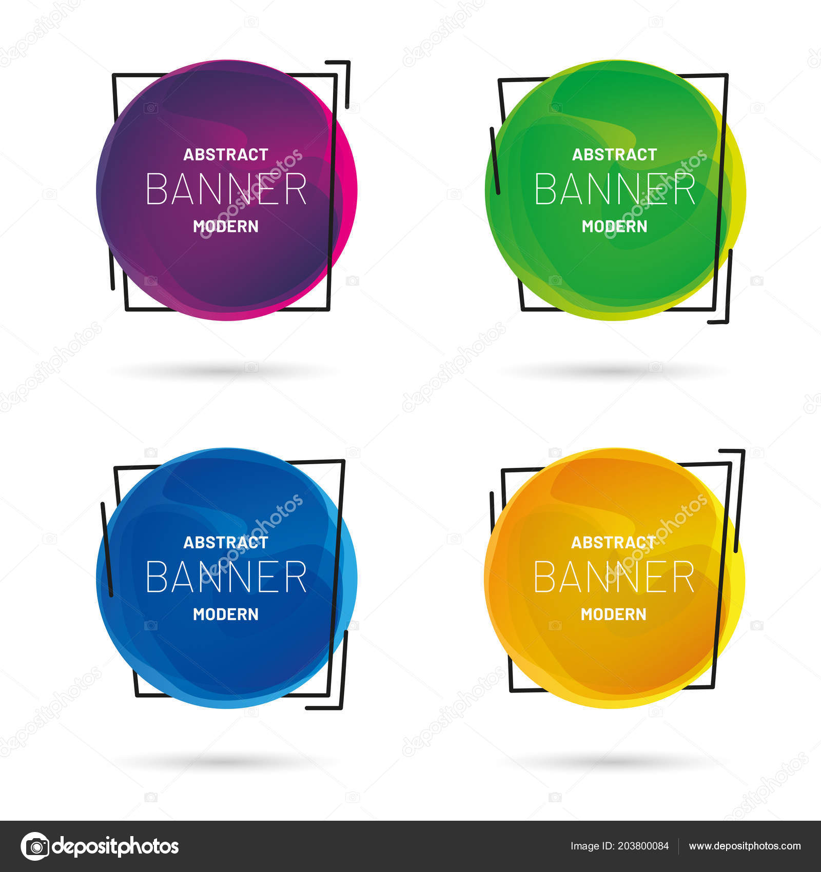 abstract modern banner collection