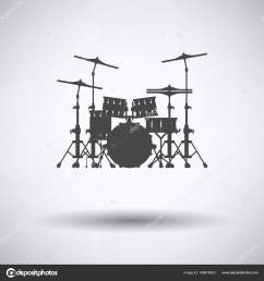 drum set icon gray background shadow vector illustration stock vector [ 1600 x 1700 Pixel ]