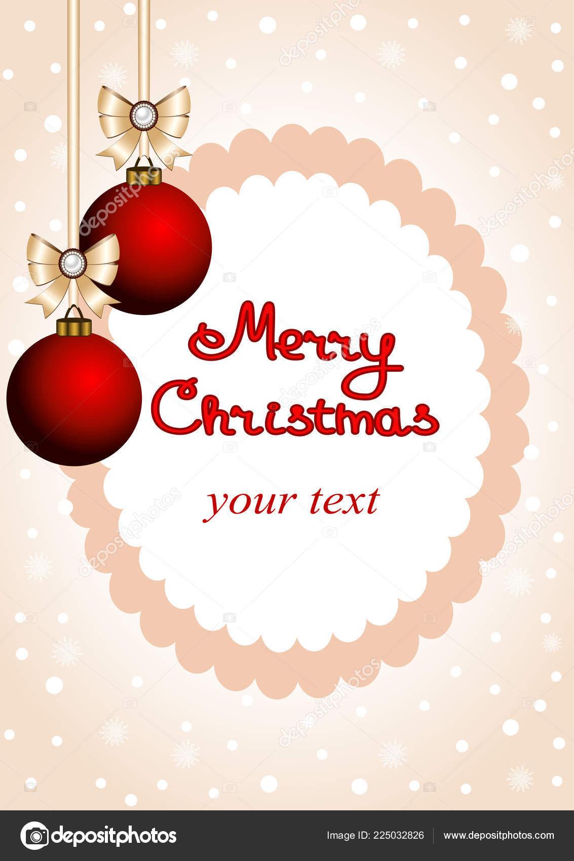 Christmas Card Postcard With Christmas Decorations