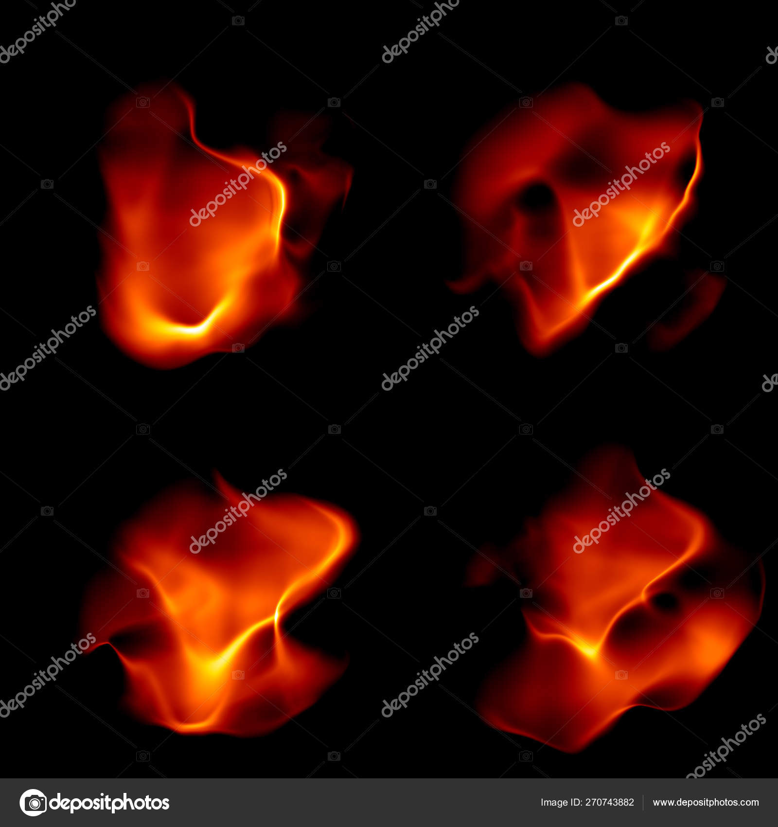 abstract flames and waves