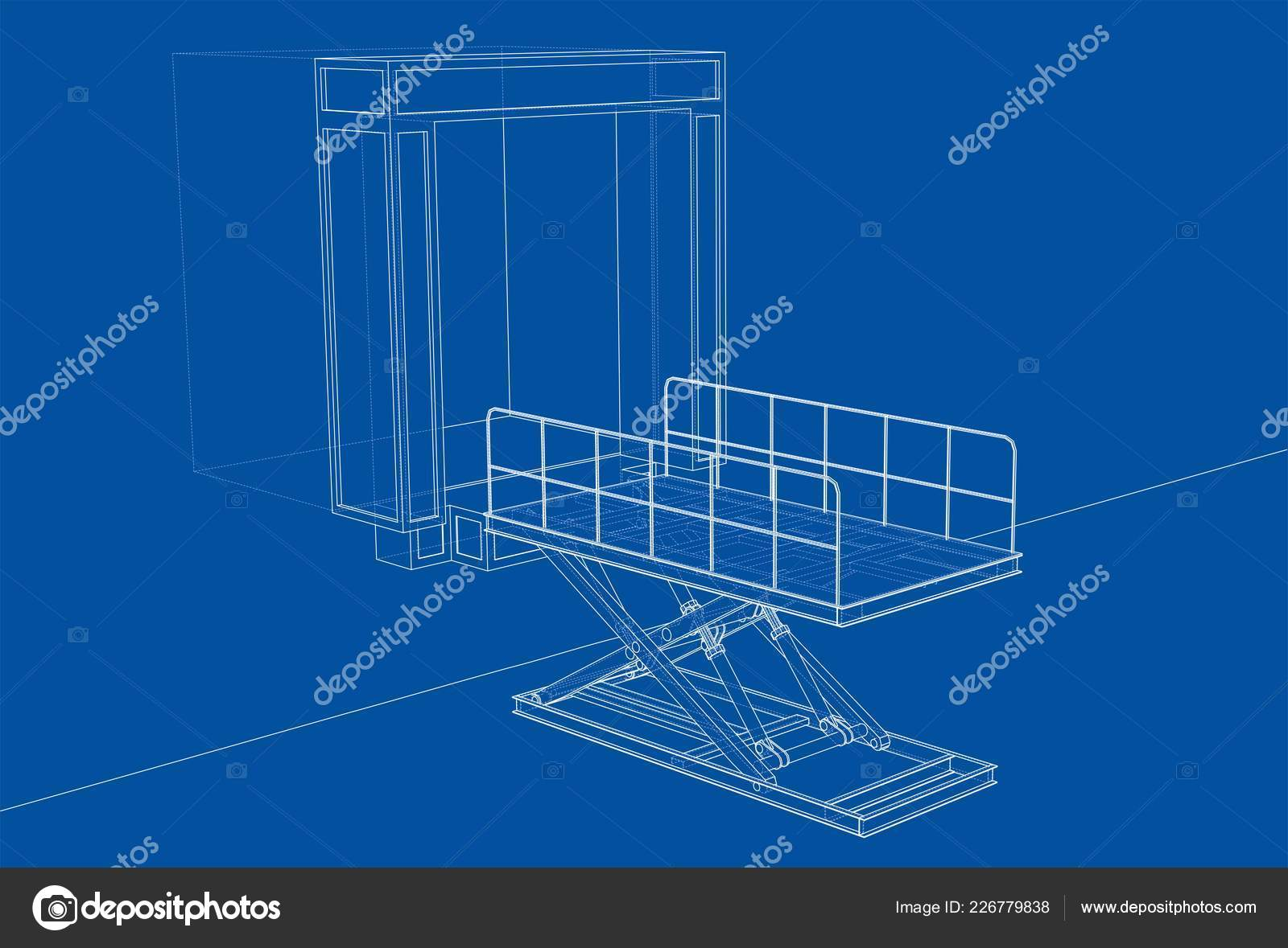 hight resolution of loading dock leveler wiring diagram wiring librarydock leveler concept vector rendering of 3d wire frame style