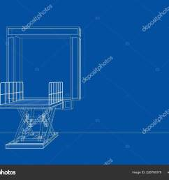 dock leveler concept vector rendering of 3d wire frame style the layers of visible and invisible lines are separated vector by cherezoff [ 1600 x 1179 Pixel ]