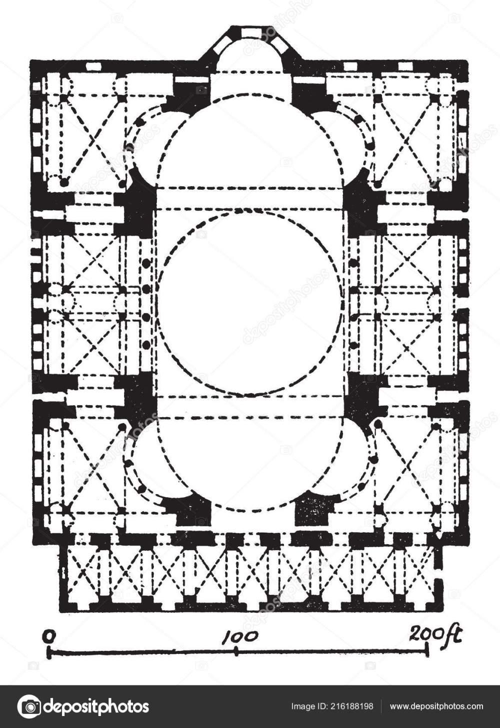 medium resolution of plan hagia sophia former patriarchal basilica later mosque massive dome stock vector