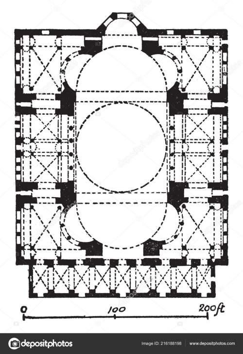 small resolution of plan hagia sophia former patriarchal basilica later mosque massive dome stock vector