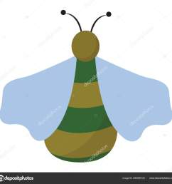 clipart of a green bug set on isolated white background viewed f ilustraci n de stock [ 1600 x 1571 Pixel ]