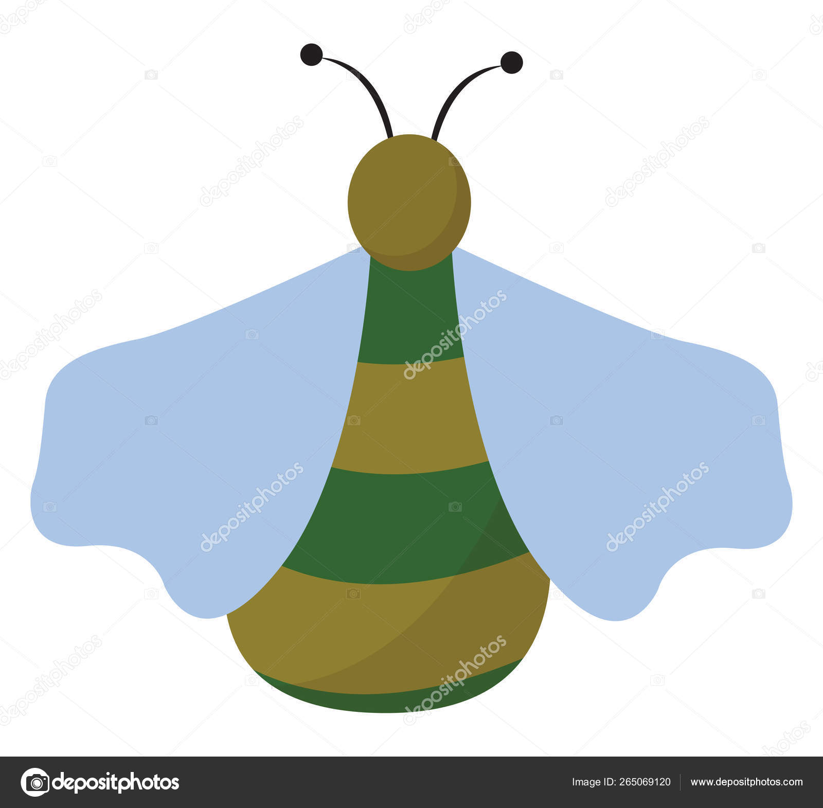 hight resolution of clipart of a green bug set on isolated white background viewed f ilustraci n de stock