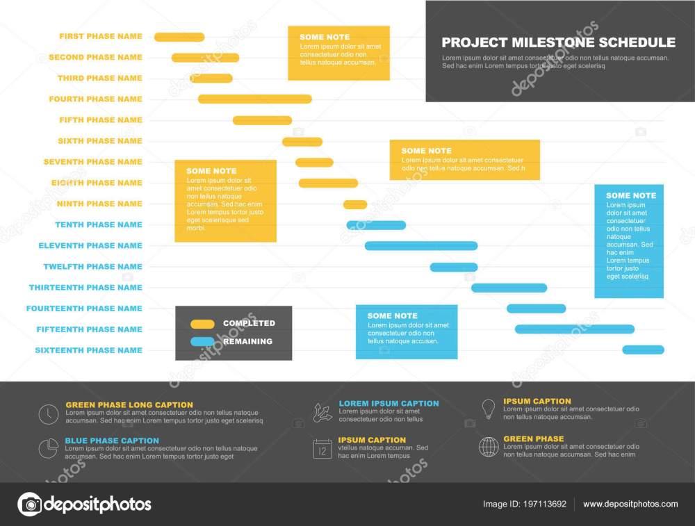 medium resolution of grafico di vettore progetto timeline diagramma di gantt avanzamento del progetto illustrazione stock