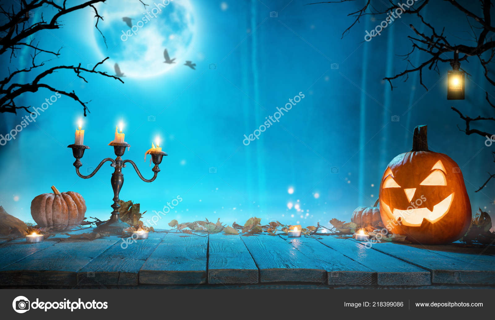 Spooky Halloween Pumpkin Forest Scary Halloween Background Free Space Text Stock Photo C Jag Cz 218399086