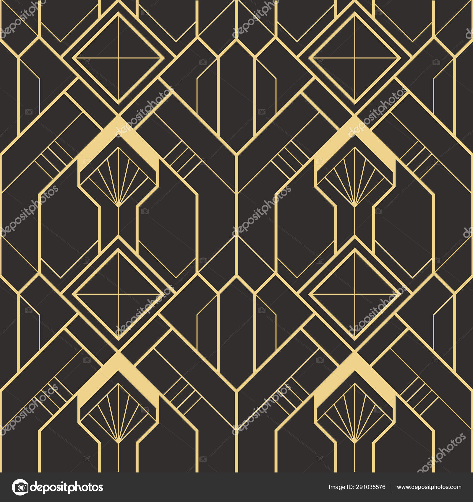 abstract art deco seamless modern tiles pattern vector image by c lumyaisweet vector stock 291035576