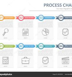 process chart flow chart template infographics design elements numbers text stock vector [ 1600 x 1444 Pixel ]