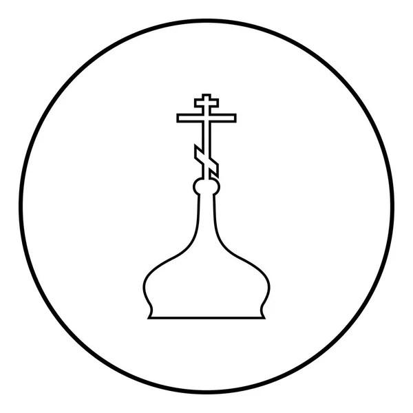 Catholic church icon, outline style — Stock Vector