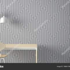 Zinc Kitchen Table Interactive Designer 简约的建筑师设计理念桌子和椅子厨房或办公室与灯具几何壁纸背景白色和 简约的建筑师设计理念桌子和椅子厨房或办公室与灯具几何壁纸