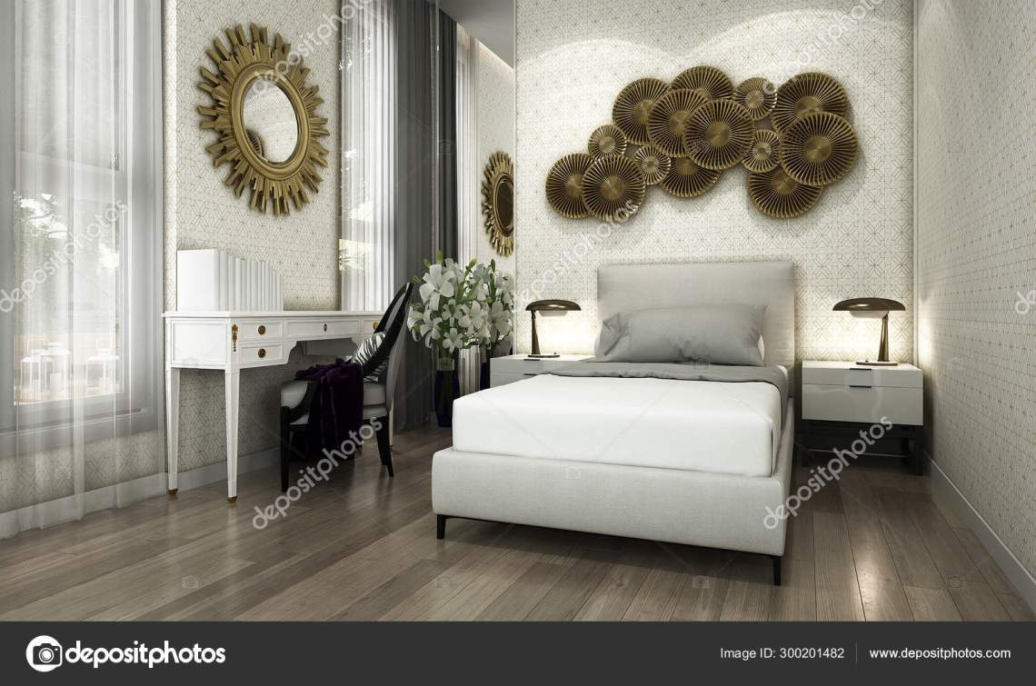 Modern Bedroom Interior Design Wall Texture Background Stock Photo By C Teeraphan 300201482