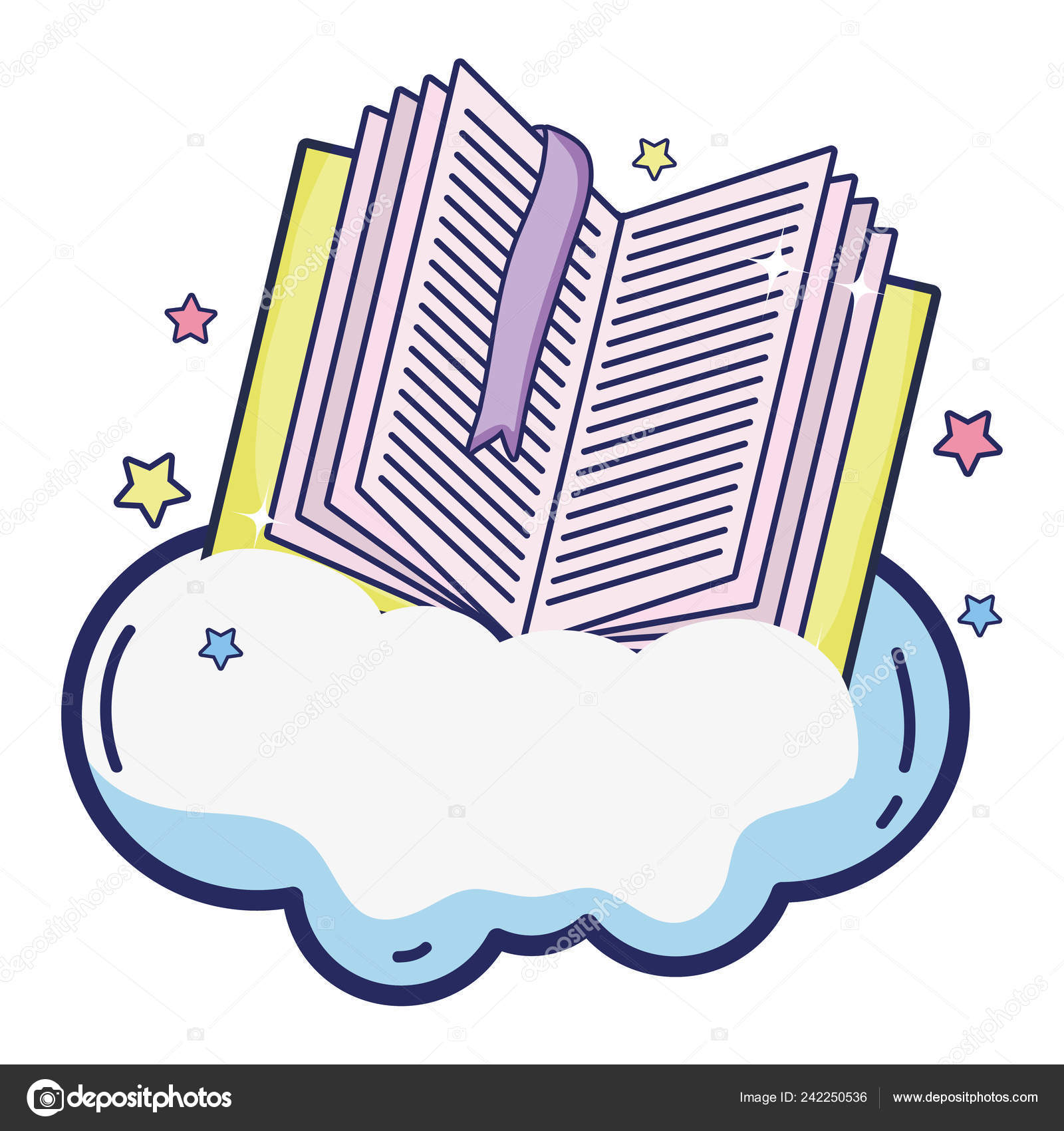 open book separator cloud