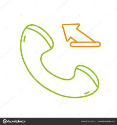 color line phone call submitted sign telephone icon vector illustration stock illustration [ 1600 x 1700 Pixel ]