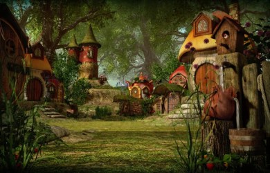Fantasy forest village Stock Photos Royalty Free Fantasy forest village Images Depositphotos®
