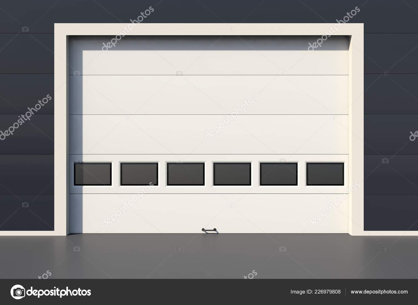 Pictures Garage Doors With Windows Sectional Industrial Door Windows White Garage Door Stock Photo C Conceptw 226979808