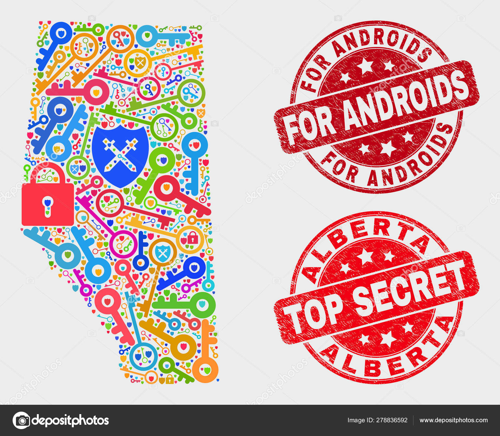 Composition of Key Alberta Province Map and Grunge For Androids ...