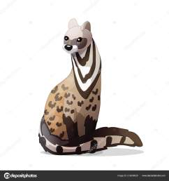 vector clipart animales dibujos animados civet vector de stock [ 1600 x 1700 Pixel ]