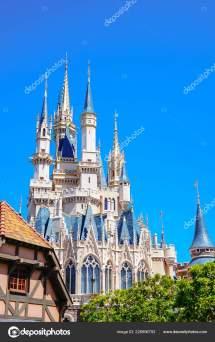 Hermoso Castillo Cenicienta Icono Tokyo Disneyland Tokio