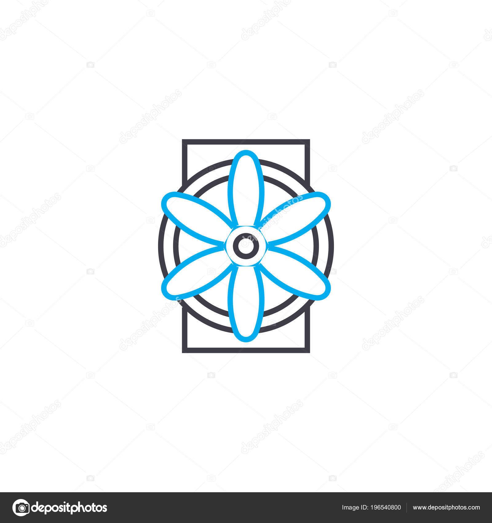Concepto de icono lineal del sistema industrial de