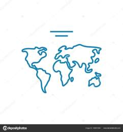 world map linear icon concept world map line vector sign symbol illustration  [ 1600 x 1700 Pixel ]