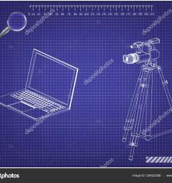 3d model of laptop and camcorder with a tripod stock vector lego instrutions laptop camcorder laptop diagram [ 1600 x 1236 Pixel ]