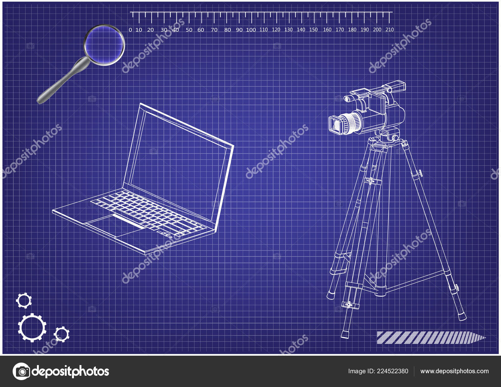 hight resolution of 3d model of laptop and camcorder with a tripod stock vector lego instrutions laptop camcorder laptop diagram