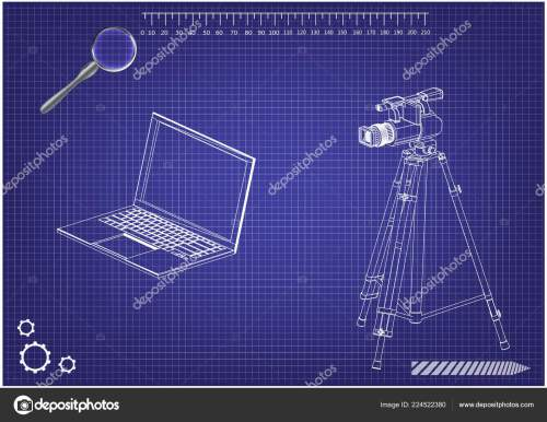small resolution of 3d model of laptop and camcorder with a tripod stock vector lego instrutions laptop camcorder laptop diagram