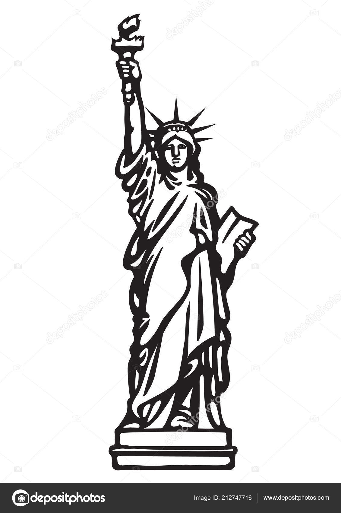 Clipart Statue Of Liberty Clip Art Black And White