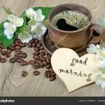 Images Good Morning Jasmine Flowers Good Morning Morning Coffee Jasmine Flowers Wooden Table Stock Photo C Krjaki1973 219803506