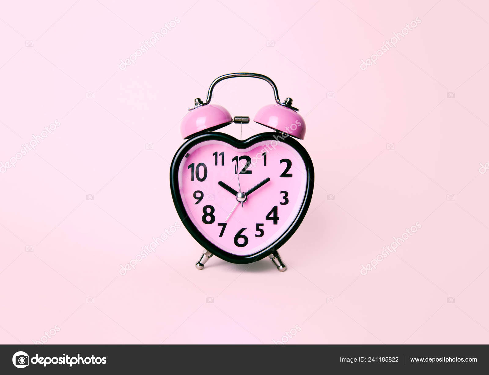 heart shaped clock on